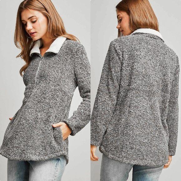 Sweaters - 'Millie' Faux Fur Pullover.